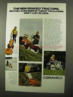 1971 Gravely Lawn Mowers Ad - We'd Sell Even More