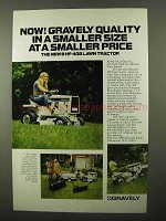 1971 Gravely 408 Lawn Tractor Ad - A Smaller Price
