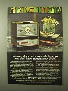 1971 Westclox Clock Radio Ad - Don't Know Enough