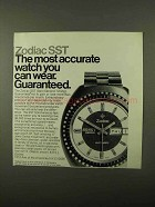 1971 Zodiac SST Watch Ad - The Most Accurate