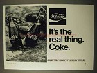1971 Coca-Cola Soda Ad - It's the Real Thing!