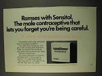 1971 Ramses with Sensitol Condoms Ad - You Forget