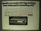 1971 Toyo Quadio Model 721 Car Stereo Ad - Exciting