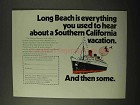 1971 Long Beach California Ad - Everything You Hear