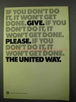 1971 United Way Ad - If You Don't Do it, Won't Get Done