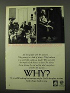 1971 Religion in American Life Ad - Why?