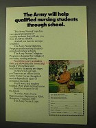 1971 U.S. Army Nurse Corps Ad - Help Through School