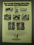 1971 KitchenAid Dishwashers Ad - Your Meals Change