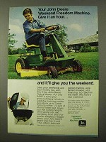 1971 John Deere Riding Mower Ad - Give it An Hour