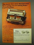 1971 General Electric Toast-R-Oven Ad - More than Toast