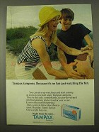1971 Tampax Tampons Ad - No Fun Just Watching the Fun