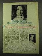 1971 Oil of Olay Ad - What Has World Done to Complexion