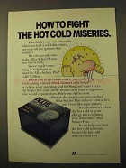 1971 Alka-Seltzer Plus Cold Tablets Ad - Fight Miseries