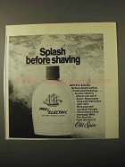1971 Old Spice Pro-Electric Before-Shave Lotion Ad