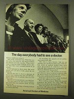 1971 American Medical Association Ad - Everybody Had To