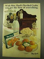 1971 Mrs. Paul's Deviled Crabs Ad - Best of Everything