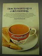 1971 Campbell's Tomato Soup Ad - Warm up Cold Morning
