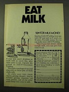 1971 Jell-O Pudding Ad - Eat Milk