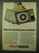 1971 RCA AccuColor TV Ad - Goes Portable