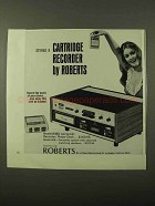 1971 Roberts Model 808D 8-Track Cartridge Recorder Ad