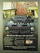 1971 Champion Spark Plugs Ad - Like Your New Car?