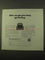 1971 Volkswagen Bug Ad - After You Get Your Shots