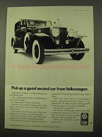 1971 Volkswagen Used Cars Ad - Good Second Car