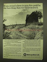 1971 Metropolitan Life Insurance Ad - Owned a Farm