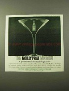 1971 Noilly Prat Vermouth Ad - Martini Not By Gin Alone