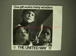 1971 United Way Ad - One Gift Works Many Wonders