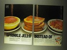 1971 Jell-O Gelatin Ad - Sprinkle Jell-O Instead Of
