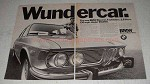 1971 BMW Bavaria Car Ad - Wundercar