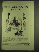 1913 The Woman in Black Novel Ad - E.C. Bentley