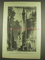 1913 The Monument London illustration - Frank Brangwyn