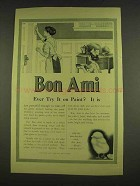 1913 Bon Ami Cleanser Ad - Ever Try It On Paint?