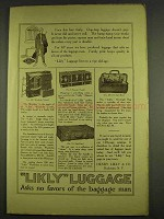 1913 Likly Luggage Ad - No. 681 Wardrobe Trunk