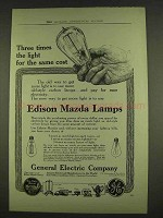1913 General Electric Edison Mazda Lamps Ad