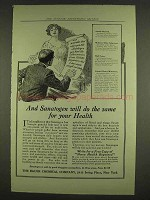 1913 Bauer Sanatogen Ad - Do The Same For Your Health