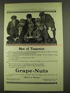 1913 Grape-Nuts Cereal Ad - Men of Tomorrow