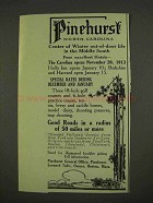 1913 Pinehurst North Carolina Ad - Winter Life