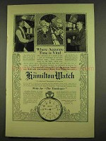 1912 Hamilton Watch Ad - Accurate Time Is Vital