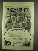 1912 New York Central Ad - 20th Century Limited