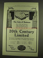 1912 New York Central Ad - The Grip of Business
