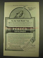 1912 Pebeco Tooth Paste Ad - Try the Acid Mouth Test
