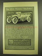 1912 Thomas Six-Forty Seven Passenger Touring Car Ad