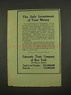 1912 Guaranty Trust Company of New York Ad - Safe