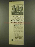 1911 Colgate's Shaving Lather Ad