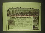 1911 Battle Creek Sanitarium Ad - Health Reconstruction