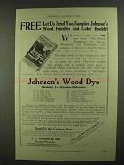 1909 Johnson's Wood Dye Ad