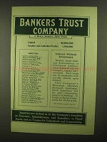 1909 Bankers Trust Company Ad